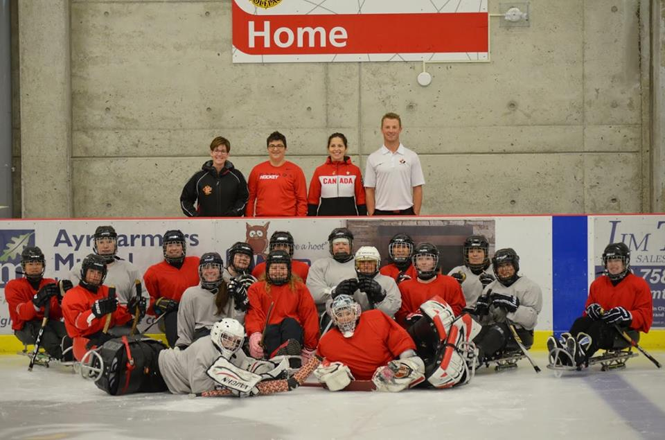 Canadian Women Sledge Hockey Team