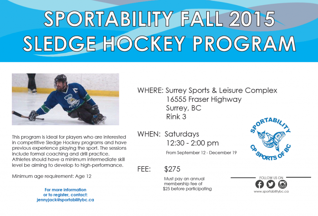 Saturday Sledge Hockey High Performance