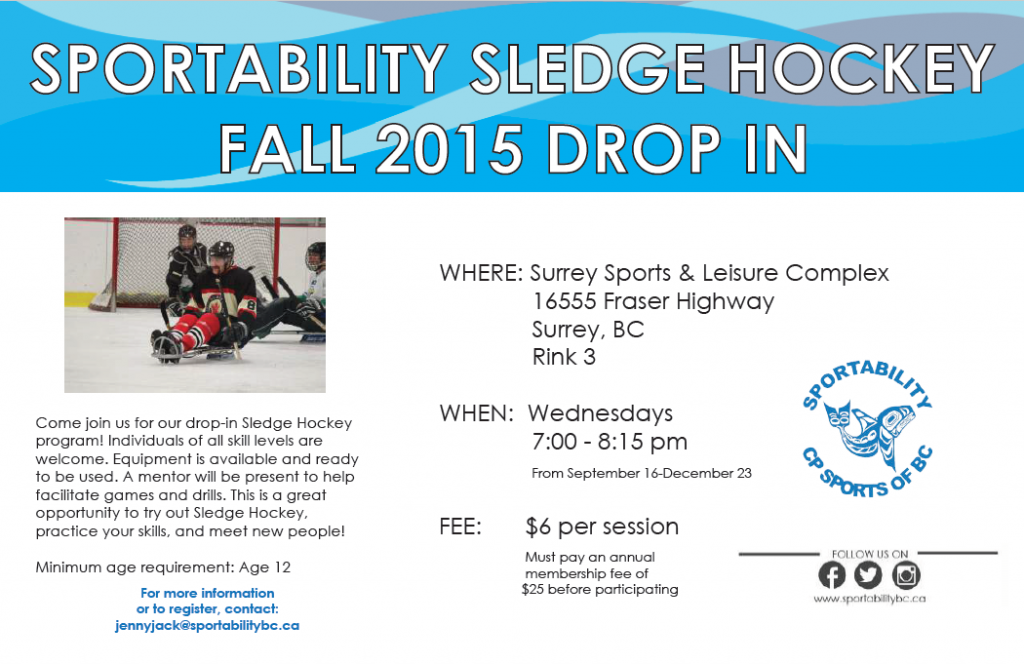 Wednesday Sledge Hockey Drop-In