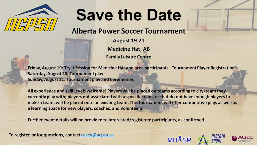 Save the Date AB Power Soccer Tournament