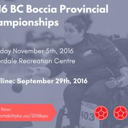 2016 BC Boccia Provincials
