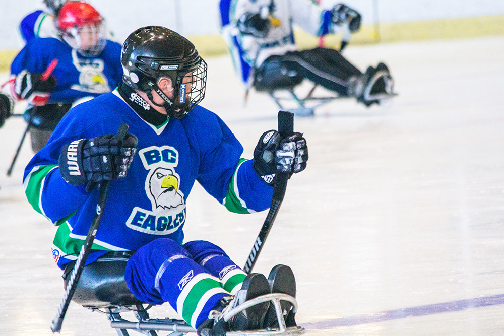 Para ice hockey (sledge hockey) in BC