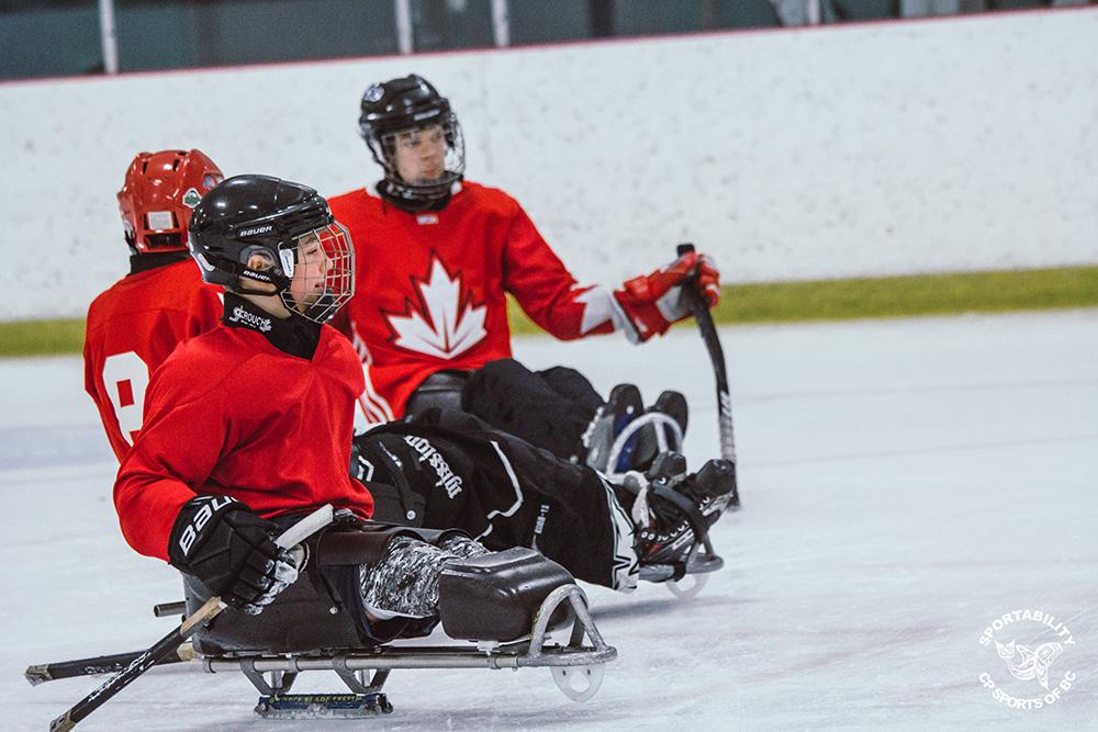para ice hockey sledge hockey in BC