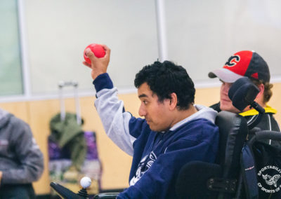 BC Boccia player at the Western Canadian Championships, 2019