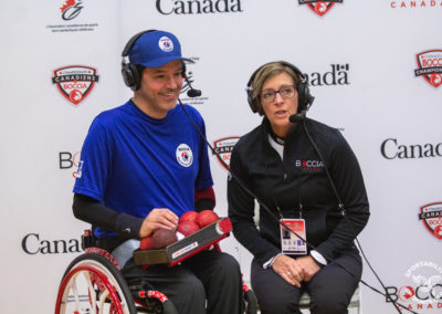 Quebec Boccia player at the Canadian Boccia Championships, 2019