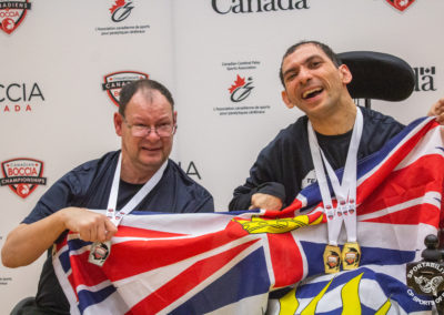 BC Boccia players at the Canadian Boccia Championships, 2019